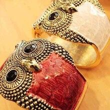 Classic Retro Women's Fashionable Personality Owl Leather Bangles Bracelet Jewelry