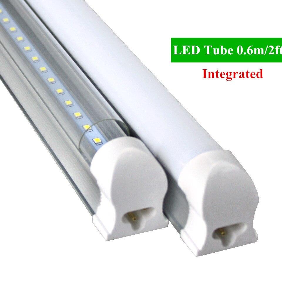 1pc/lot  LED Bulbs Tubes 2ft Integrated Tube Light T8 600mm 10W Led Tubes AC85-265V G13 SMD2835 Lighting Tubes 1000lm 2016 integrated led tube light t5 900mm 3ft led lamp epistar smd 2835 11watt ac110 240v 72leds 1350lm 25pcs lot
