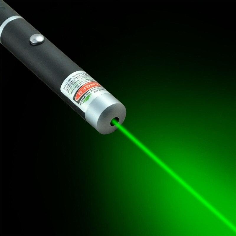 Лазерная указка 5 мВт, высокая мощность, зеленый, синий, красный точечный лазерный светильник, ручка, мощный лазерный измеритель 530нм 405нм 650нм, зеленая лазерная ручка - Цвет: Зеленый