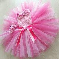 0-4Year Roze Tulle Bloem Meisje Jurken Leuke Prinses Peuter Baljurk Jurk Bruiloft Verjaardag Kids Meisje Partij Tutu Jurk