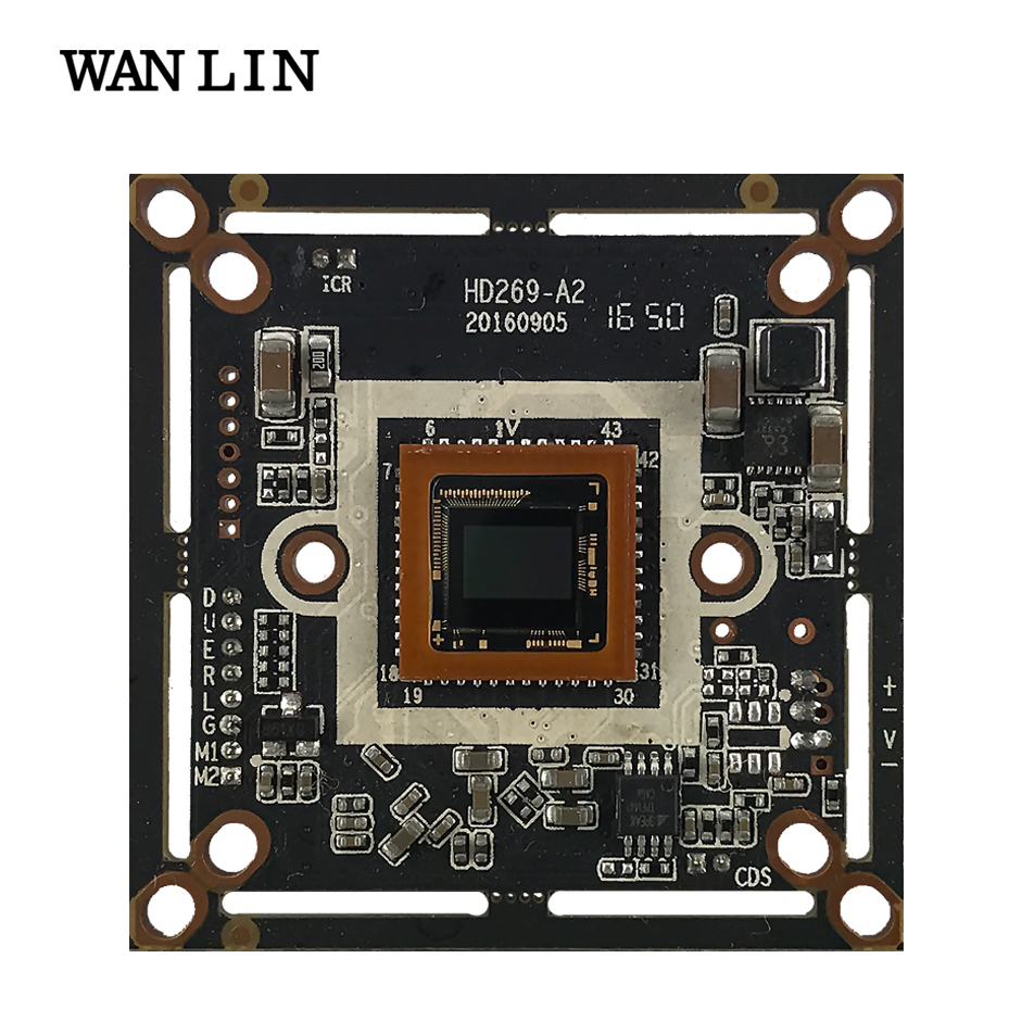 WANLIN HD 3MP AHD CCTV Camera Module PCBA AR0330+2470 OSD Cable DC12V CVBS AHD TVI 2 IN 1 ahd 2 0megapixel cctv camera module pcb low illumination 0 001lux osd cable dc12v cvbs 2000tvl 3d noise reduction