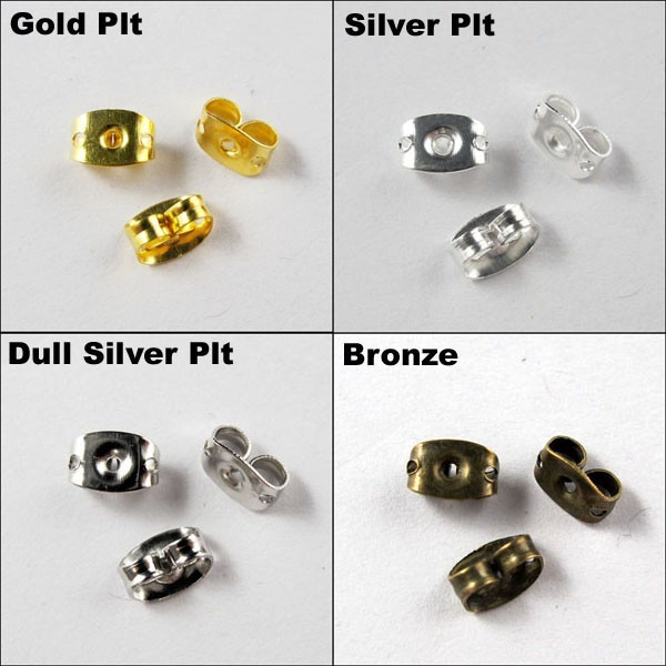 Omh Whole 4x6mm Gold Silver 500pcs Nickel Plating Ear Post Erfly Back Earring Stopper On