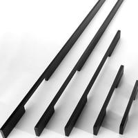 5PCS Cabinet Handles Aluminum Kitchen Cupboard Pulls Drawer Knobs Furniture Bedroom Door long Handle Hardware 23.03~39.37