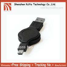 Free Shipping+ 50pcs/lotMobile GPS MP3 Retractable mini USB Cable for charge
