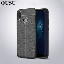 OUSU Original Anti-knock Lowkey Luxury Leather Case For huawei p20 lite Full Coverage Quality Soft TPU Covers nova 3