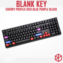 cherry profile blank dip dyed keycaps red blue purple black shift tab backspace enter iso ctrl win alt 1.5u 2u 1.75u 2.25u(China)