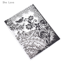 She Love Bird Transparent Clear Stamp for DIY Scrapbooking Card Decorative Embossing Background Sheet