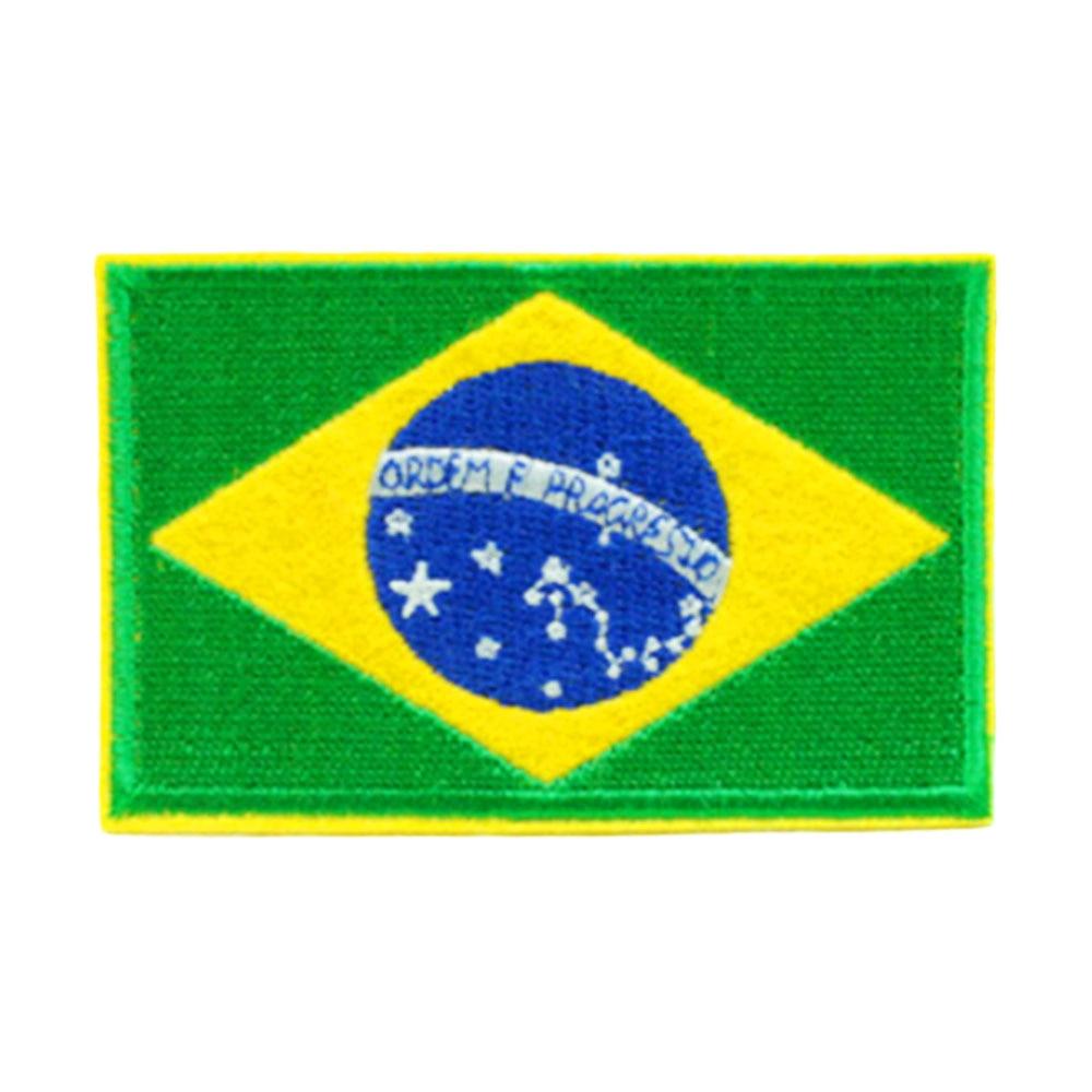 Нашивки с национальным флагом для одежды, нашивки с национальной эмблемой, нашивки с вышивкой, наклейки для одежды, нашивки с изображением страны, железные нашивки - Цвет: Brazil