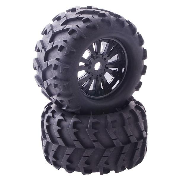 1 8 Rc Monster Truck Wheels Tires Tyres Hex 17mm 2pcs