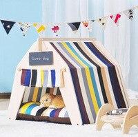 Di alta qualità In Legno Pet tenda Cane casa Dell'animale Domestico Tenda legno Canile Puppy love Dog Cat B Casa con ped SE16