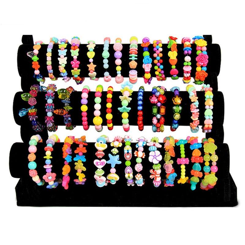 DIY Beaded Toys child handmade hand-made beaded toys nursery handmade bracelet necklace Material Girl Create gift ...