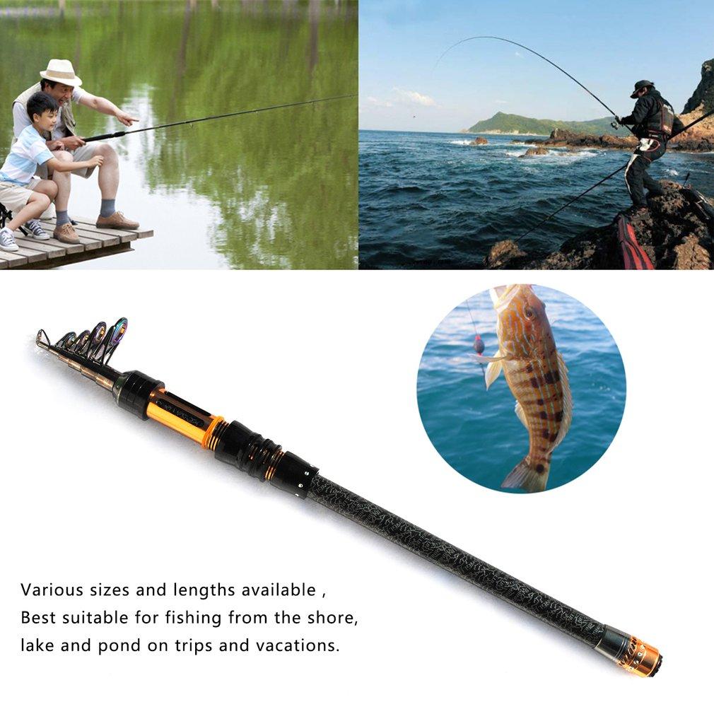 Portable Telescopic Short Fishing Rod Super Hard Carbon Fiber Sea Pole Ultralight Long Shot Casting Rod Fishing Accessories