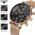 Часы-подарок к празднику Для женщин LIGE часы модные Повседневное кварцевые часы дамы лучший бренд роскошных часов Девушка наручные часы Reló...