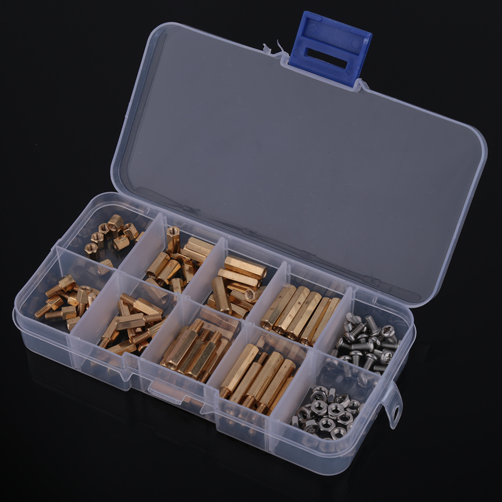 120Pcs Brass Golden M3 Screw Standoff/Spacer Brass Hex Stand-Off Pillars DIY Set Threaded минипечь gefest пгэ 120 пгэ 120