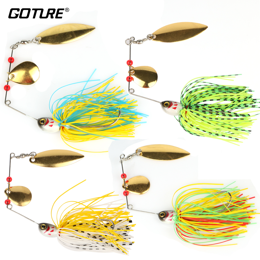 Goture 4 ks 19.4g / 0.68oz Spinner návnada Metal Willow Blade a - Rybaření