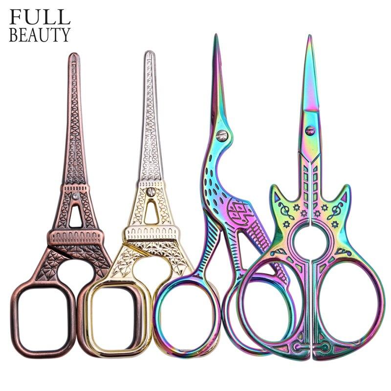 La belleza tijeras de uñas de acero inoxidable del dedo del pie de la cutícula tijeras camaleón pájaro cortador de manicura removedor de maquillaje de uñas arte herramienta CHA37