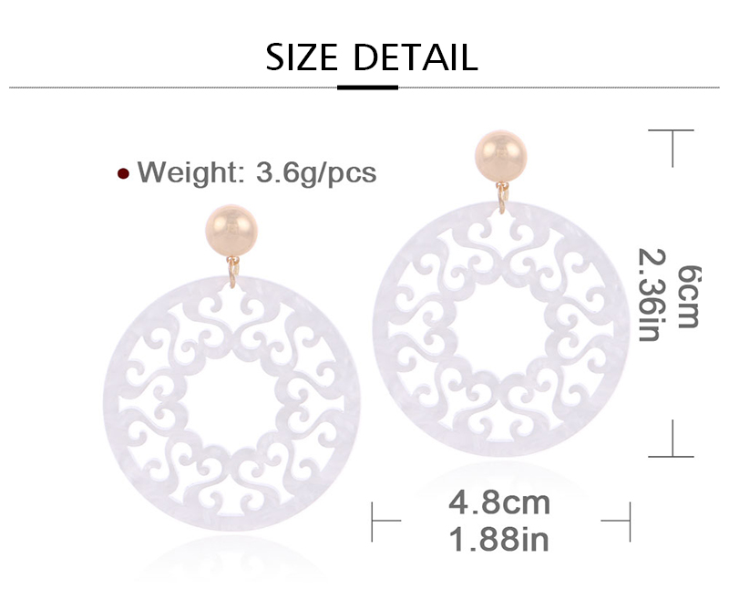 HTB1c47ih7voK1RjSZFDq6xY3pXak - Badu White Acetic Acid Earring Vintage Carved Big Round Acrylic Pendant Dangle Earrings Bohemian Jewelry Party