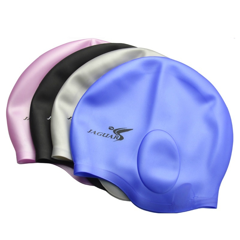 Waterproof Silicone swimming cap Adult swim Unisex Silica Gel Ear Protection Swimming Cap Men Women Silicone Cap Swimming hat2pc