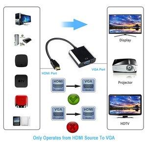 Image 2 - QGEEM Chuyển Đổi HDMI Sang Kỹ Thuật Số Sang Analog Âm Thanh Video HDMI Kết Nối VGA Dành Cho Xbox 360 PS4 PC laptop Tivi Box