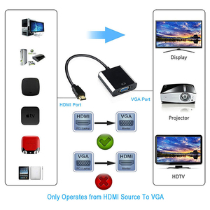 Image 2 - QGEEM HDMI к VGA адаптер цифро аналоговый видео аудио конвертер Кабель HDMI VGA разъем для Xbox 360 PS4 ПК ноутбук ТВ коробка