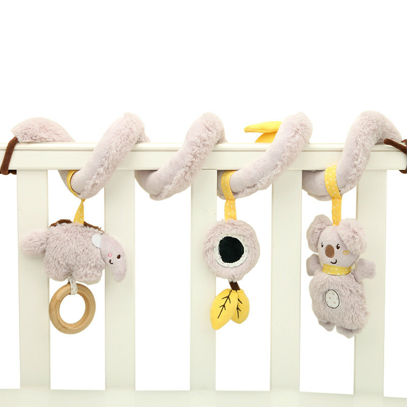 Primary Baby speelgoed 0 2 Year Alpinia Oxyphylla Plush toddler Toys Music Bed Winding Bell Security Mirror peter naninha