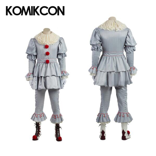 f1a999bee Stephen King é Pennywise Traje Cosplay Halloween Terror Horrível Adulto  Traje Do Palhaço Terno Personalizado Costume