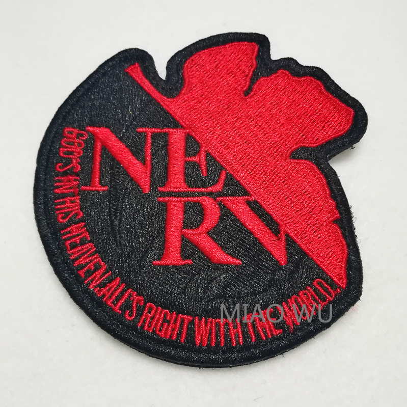 Neon Genesis Evangelion NERV Cosplay EVA Uniform Arm Jacket Patch Badge Bedge Embroidered Costume Accessories Anime Patches Gift