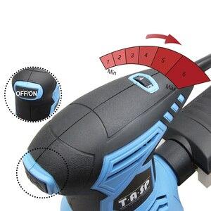 Image 4 - TASP 300W אקראי Orbital סנדר חשמלי מכונת משתנה מהירות מלטש כלים עם היברידי אבק מיכל & 5pcs 125mm Sandpapers