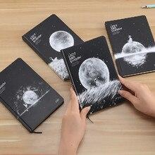 Дневник с надписью Phase of The Moon Space Planet Kawaii, милый блокнот в твердом переплете для девочек, дневник, личный дневник, блокнот, Детские канцелярские принадлежности