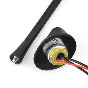 Image 3 - Только автомобильная антенна для DAB + AM/FM радио встроенный усилитель разъем SMA Универсальный потолочный стержень антенны 5 м кабель