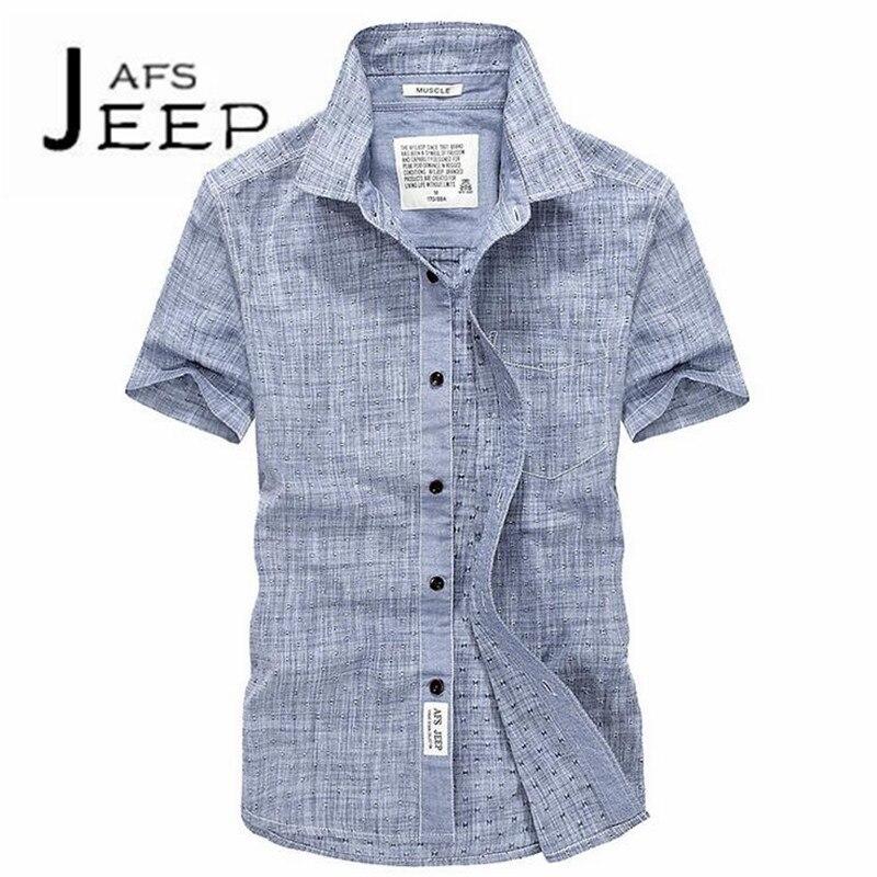 JI PU Fashion Design Single Real Pocket Polka dot fashion style summer mans short sleeve Leisure Shirts,S to 4XL Pilot shirt