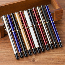 1pcs 8 color high quality Stainless steel rod rotating Metal ballpoint Pen Stationery Ballpen School office supply student gift