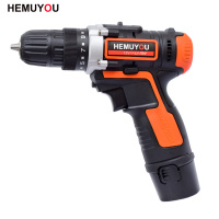 12V Electric Cordless Drill Mini Hand Drill Wireless Electric Screwdriver lithium Battery 3 / 8 Inch 2 Speed + Smart Display