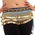 Chic trajes de dança do ventre 248 moedas de veludo Hip envoltório do lenço Belt saias Dancewear