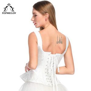 Image 3 - Victorian Corset Elegant Women Steampunk Overbust Corsets Lace Floral Jacquard Wedding Party Bustier Tops Slimming Costume