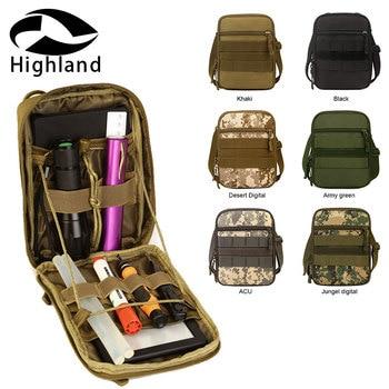 Bolsa táctica de nailon para senderismo EDC, riñonera Molle, bolsas de artículos diversos del ejército militar con correa para el hombro