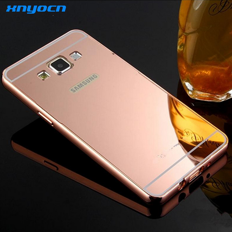 2016 New Arrival For Samsung Galaxy j7 Case Luxury Mirror Metal Aluminum+Acrylic Hard Back Cover Phone Fundas Bag Accessory Capa
