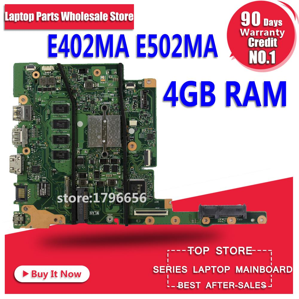 все цены на SAMXINNO For ASUS E402MA E502MA N2840 4GB Memory laptop motherboard tested 100% work original mainboard