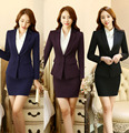 Nova Moda OL Formal de Estilos de Mulheres de Negócio Trabalho Usam Ternos Com Coletes E Saia Para As Senhoras Do Escritório Blazers Roupas