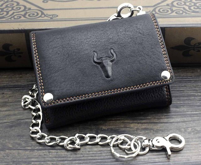 Trifold Wallet w/ Metal Chain  6