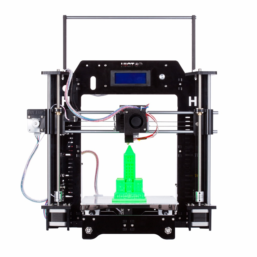 Newest MK8 Acrylic Reprap Prusa I3 3D Printer with LCD Screen and DIY Kits