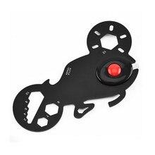 Portable Motorcycle-shape Multi-Function EDC Tool Card Bottle Opener Keychain with LED Light Multi-Purpose Gadget led cartoon snake shape night light function keychain