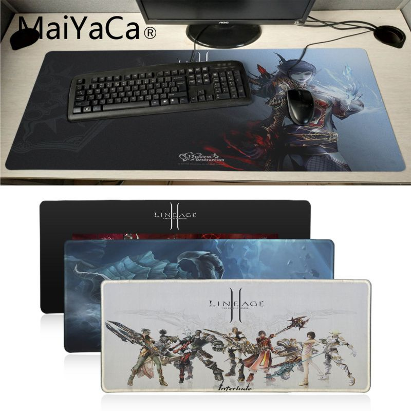 Maiyaca New Arrivals Lineage 2 Video Game Mouse Pad Gamer Play Mats Office Mice Gamer Soft Lockedge Mouse Pad