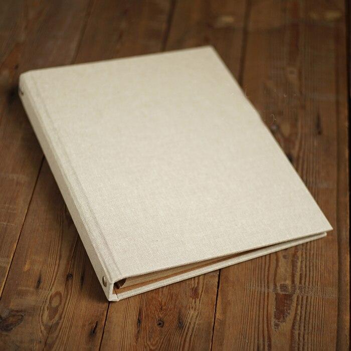 Cahier à feuilles mobiles en lin papier artisanal Style rétro Art Original fait main bricolage adhésif-Type Album Menu Album Photo Scrapbook