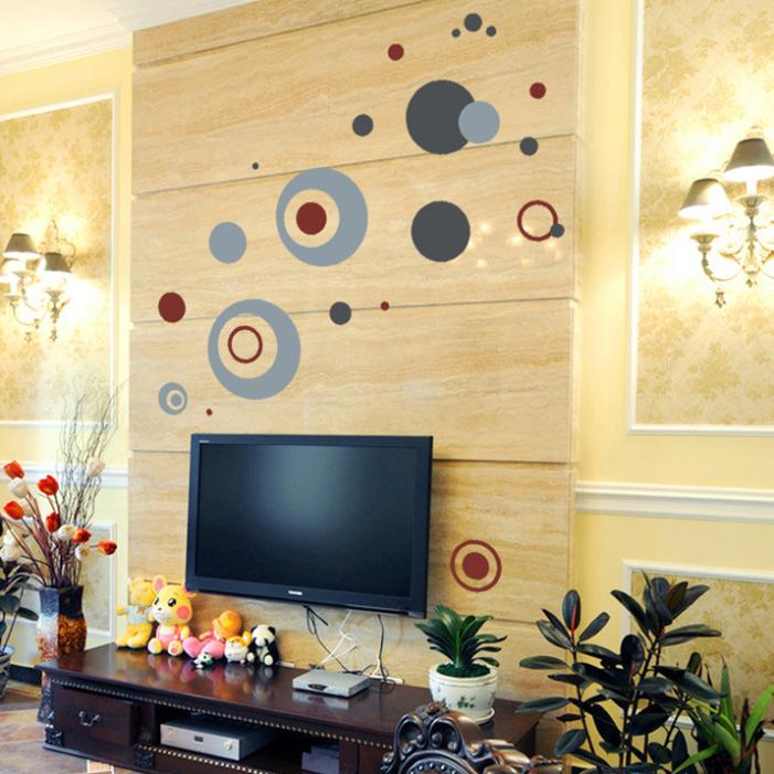 NEW design Abstract European bordeaux circle wall decal zy7119 ...
