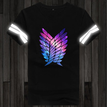 Attack on Titan t shirt luminous in night Short Sleeve Glow in dark t-shirt (8 colors)