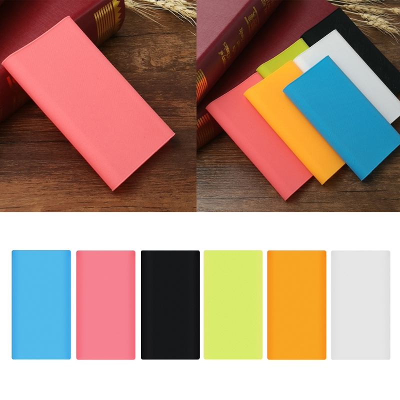 OOTDTY Silicone Sleeve Protector Case Skin Cover Bag For Xiaomi Power Bank 2 10000mAh