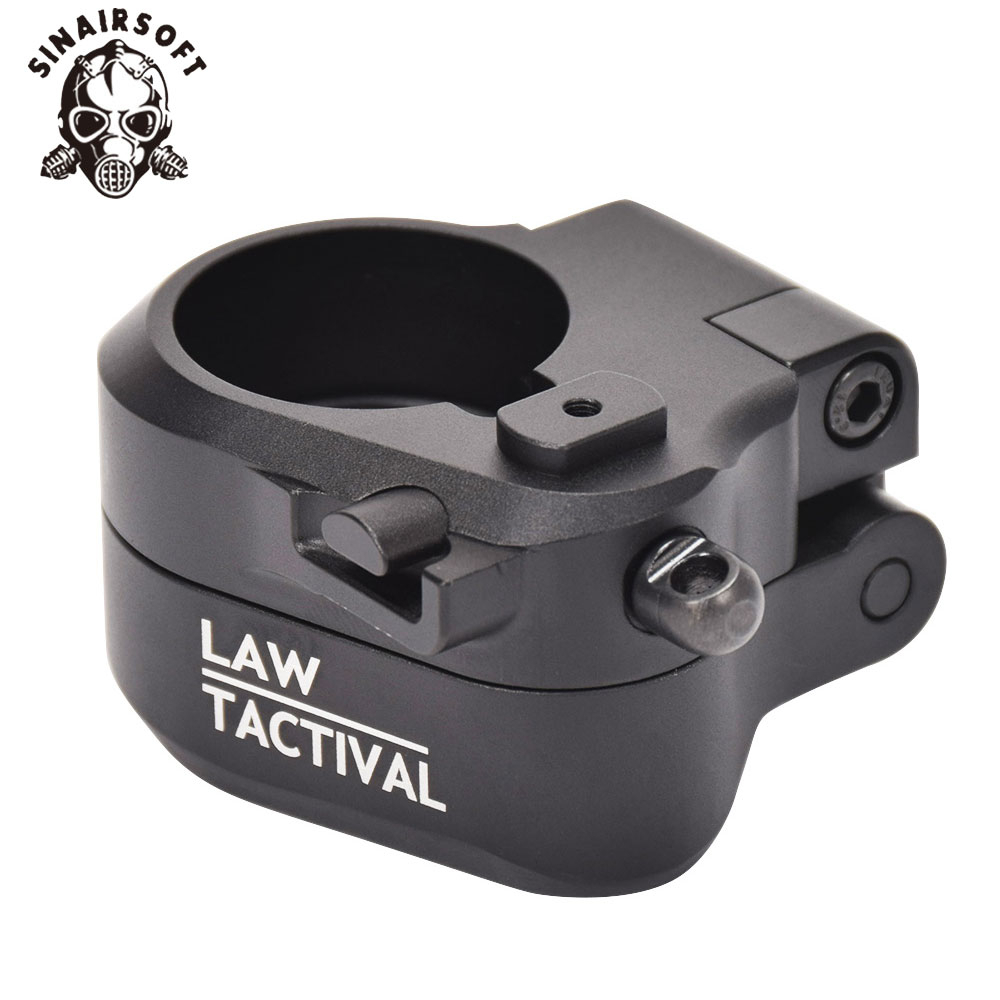 LAW Tactical AR Black Folding Stock Adapter Fit M16 M4 SR25 Series GBB AEG For Airsoft
