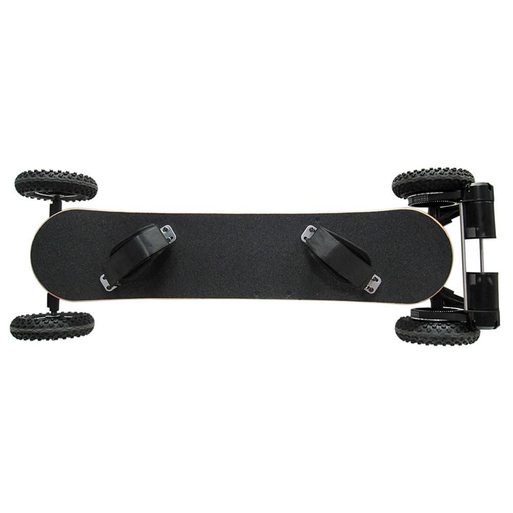 H2C 2X800 w Brushless Motori 4 Ruote Elettrico Scheda di Diapositive Con Telecomando E-Ruota di Skateboard di Skateboard NERO EU