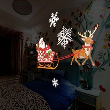 Dynamic 12 Patterns Santa Claus Christmas Laser Projector Indoor Outdoor Animation Effect Snowflake Snowman Remote Projector